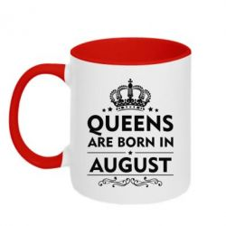 Кружка двоколірна Queens are born in August - FatLine