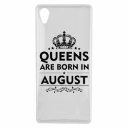 Чохол для Sony Xperia X Queens are born in August - FatLine