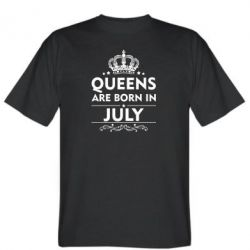 Мужская футболка Queens are born in July - FatLine