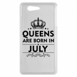Чехол для Sony Xperia Z3 mini Queens are born in July - FatLine