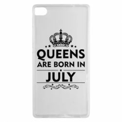 Чехол для Huawei P8 Queens are born in July - FatLine