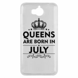 Чехол для Huawei Y5 2017 Queens are born in July - FatLine