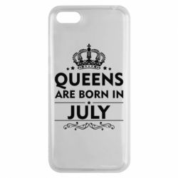 Чехол для Huawei Y5 2018 Queens are born in July - FatLine