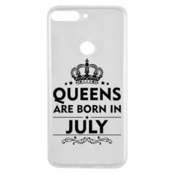 Чехол для Huawei Y7 Prime 2018 Queens are born in July - FatLine