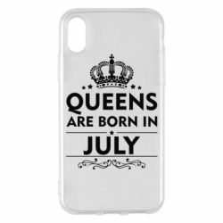 Чехол для iPhone X Queens are born in July - FatLine