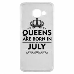 Чехол для Samsung A3 2016 Queens are born in July - FatLine