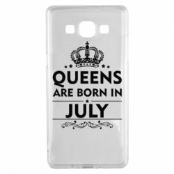 Чехол для Samsung A5 2015 Queens are born in July - FatLine