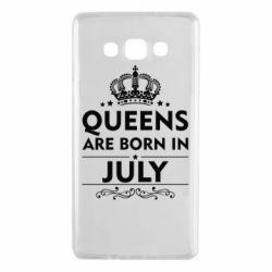 Чехол для Samsung A7 2015 Queens are born in July - FatLine