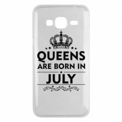 Чехол для Samsung J3 2016 Queens are born in July - FatLine