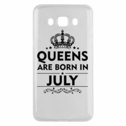 Чехол для Samsung J5 2016 Queens are born in July - FatLine