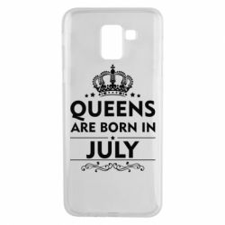 Чехол для Samsung J6 Queens are born in July - FatLine