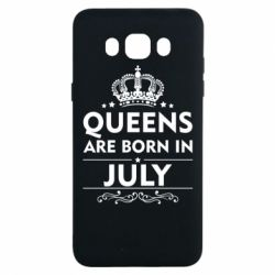 Чехол для Samsung J7 2016 Queens are born in July - FatLine