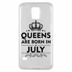 Чехол для Samsung S5 Queens are born in July - FatLine