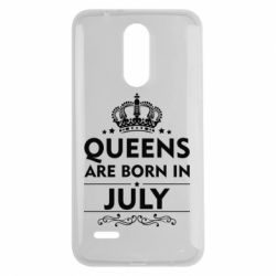 Чехол для LG K7 2017 Queens are born in July - FatLine