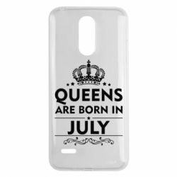 Чехол для LG K8 2017 Queens are born in July - FatLine