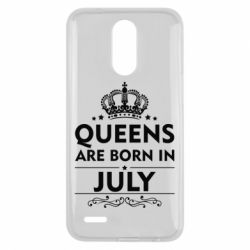 Чехол для LG K10 2017 Queens are born in July - FatLine