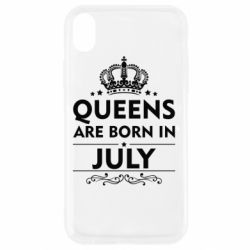 Чехол для iPhone XR Queens are born in July - FatLine