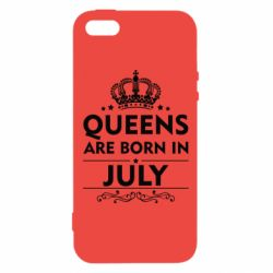 Чехол для iPhone5/5S/SE Queens are born in July - FatLine