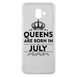 Чехол для Samsung J6 Plus 2018 Queens are born in July - FatLine