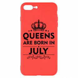 Чехол для iPhone 8 Plus Queens are born in July - FatLine