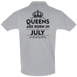 Футболка Поло Queens are born in July - FatLine