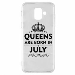 Чехол для Samsung A6 2018 Queens are born in July - FatLine