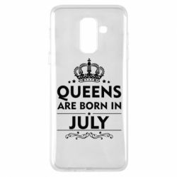 Чехол для Samsung A6+ 2018 Queens are born in July - FatLine