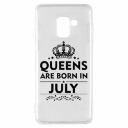 Чехол для Samsung A8 2018 Queens are born in July - FatLine