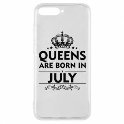 Чехол для Huawei Y6 2018 Queens are born in July - FatLine