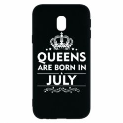 Чехол для Samsung J3 2017 Queens are born in July - FatLine