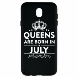 Чехол для Samsung J7 2017 Queens are born in July - FatLine