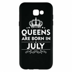 Чехол для Samsung A7 2017 Queens are born in July - FatLine