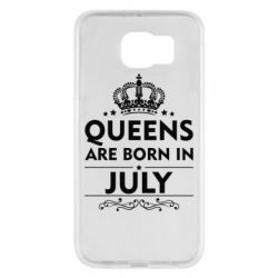 Чехол для Samsung S6 Queens are born in July - FatLine