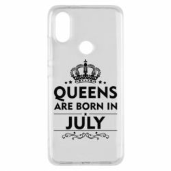 Чехол для Xiaomi Mi A2 Queens are born in July - FatLine