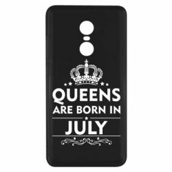 Чехол для Xiaomi Redmi Note 4x Queens are born in July - FatLine
