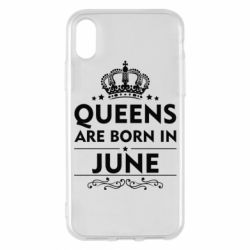 Чехол для iPhone X Queens are born in June - FatLine