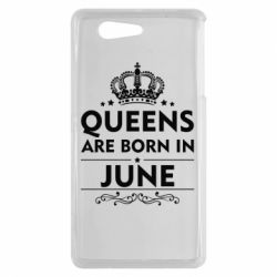 Чехол для Sony Xperia Z3 mini Queens are born in June - FatLine
