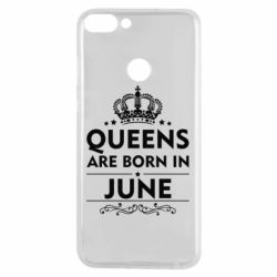 Чехол для Huawei P Smart Queens are born in June - FatLine