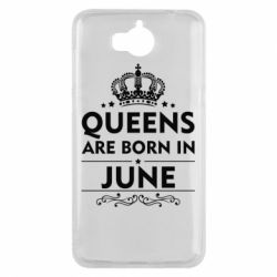 Чехол для Huawei Y5 2017 Queens are born in June - FatLine