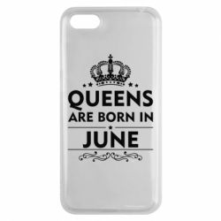 Чехол для Huawei Y5 2018 Queens are born in June - FatLine