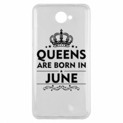 Чехол для Huawei Y7 2017 Queens are born in June - FatLine