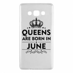 Чехол для Samsung A7 2015 Queens are born in June - FatLine