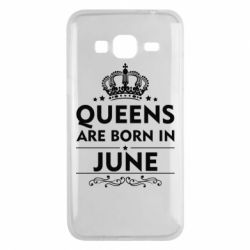 Чехол для Samsung J3 2016 Queens are born in June - FatLine
