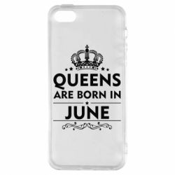 Чехол для iPhone5/5S/SE Queens are born in June - FatLine