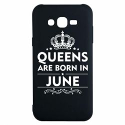 Чехол для Samsung J7 2015 Queens are born in June - FatLine