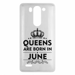 Чехол для LG G3 mini/G3s Queens are born in June - FatLine