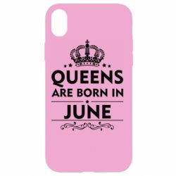 Чехол для iPhone XR Queens are born in June - FatLine