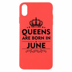 Чехол для iPhone Xs Max Queens are born in June - FatLine