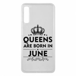 Чехол для Samsung A7 2018 Queens are born in June - FatLine