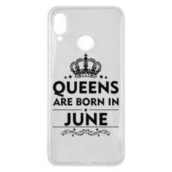 Чехол для Huawei P Smart Plus Queens are born in June - FatLine